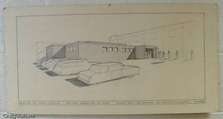 The architect's original sketch of the NGB